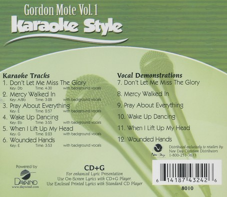 Gordon Mote Karaoke, Vol. 1