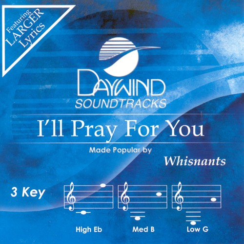 I'll Pray For You, Accompaniment CD