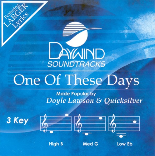 One Of These Days, Accompaniment CD