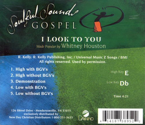 I Look To You, Accompaniment CD