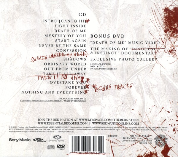 Innocence & Instinct, Deluxe Edition CD/DVD