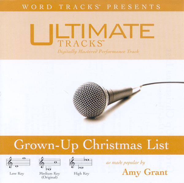 Grown-Up Christmas List, Accompaniment CD