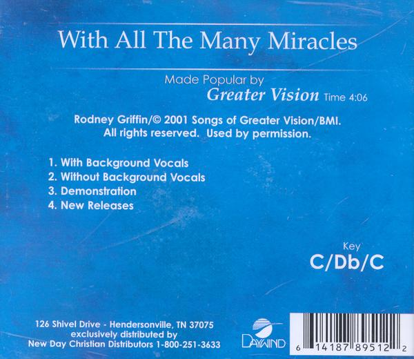 With All The Many Miracles, Accompaniment CD