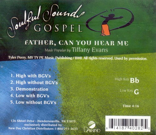 Father, Can You Hear Me, Accompaniment CD