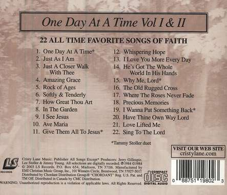 One Day At A Time: 22 All-Time Favorites, Volumes 1 & 2 CD