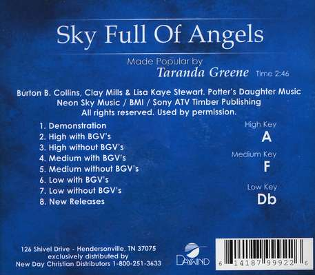 Sky Full of Angels, Accompaniment CD