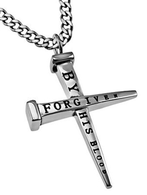 Forgiven Nail Cross Necklace  -