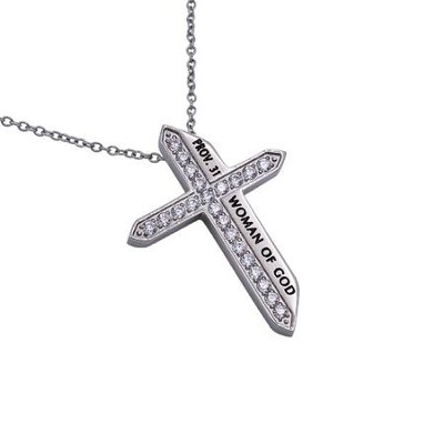 Woman of God, Katana Cross Necklace   -