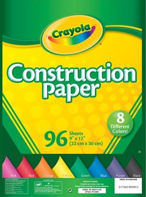 Crayola Construction Paper, 96 Count   -