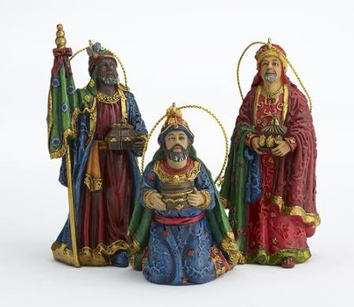Three Kings Ornament Set, 3 Pieces  -