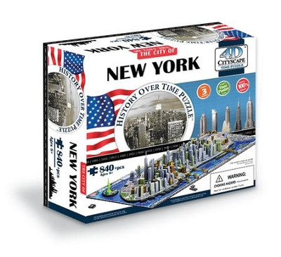 The City of New York--History over Time 4-D Puzzle   -
