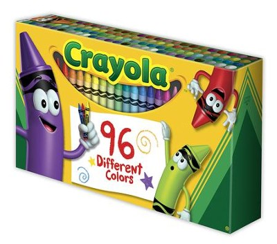 Crayola, Crayons, with Sharpener, 96 Pieces  -
