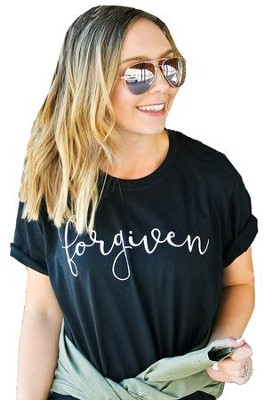 Forgiven, Short Sleeve Shirt, Black, Medium  -