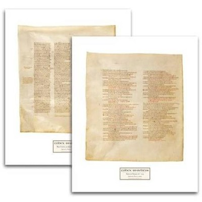 Codex Sinaiticus Facsimile Prints, 2 folios   -
