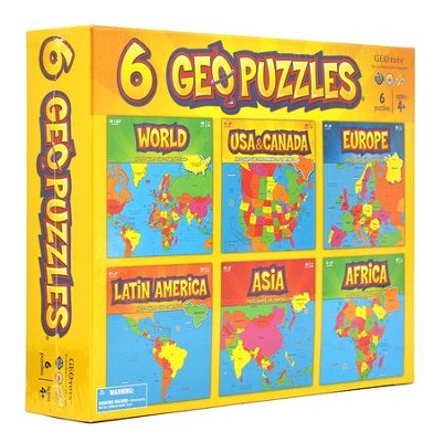 6-in-1 Geography Puzzles  -