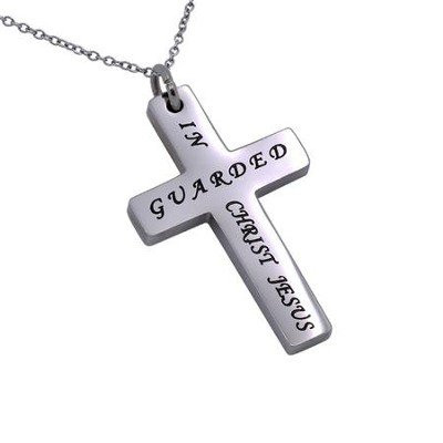 Guarded Simplicity Cross Necklace   -