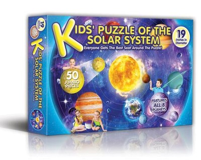 Kid's Puzzle of the Solar System, 50 Piece Puzzle   -