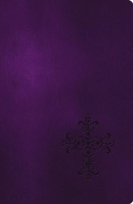 NKJV Essential Personal Size Giant Print Reference Bible, Leathersoft Rich Royal Purple  -