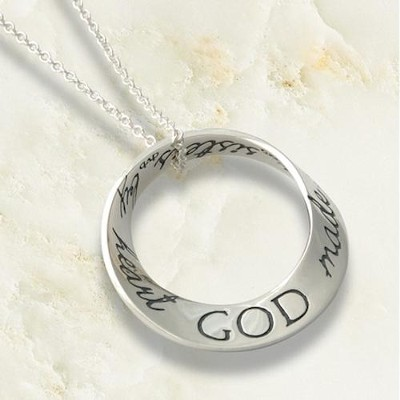 God Made Us Sisters by Heart Mobius Necklace   -