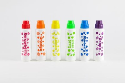 Fruit Scented, Washable Markers, Set of 6  -