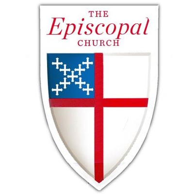 Episcopal Shield Decal:  - Adhesive-backed Pack of 25   -