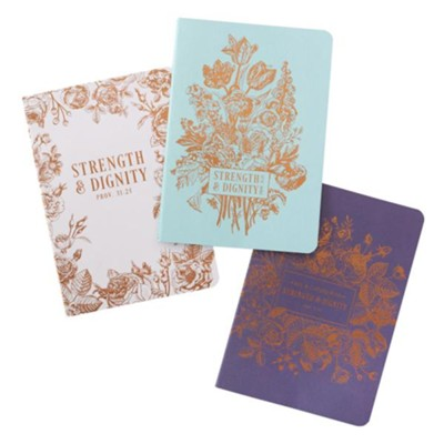 Strength & Dignity Notebooks, Set of 3  -