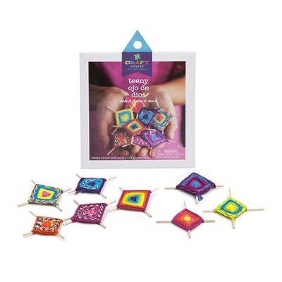Teeny Ojo De Dios Kit, 8 Designs  -