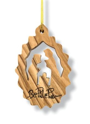 Nativity Olivewood Ornament  -