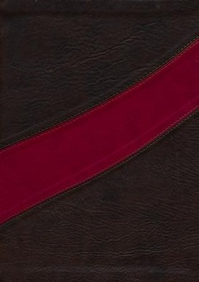 NASB MacArthur Study Bible, Leathersoft Cranberry & Earth Brown Indexed  -     By: John MacArthur