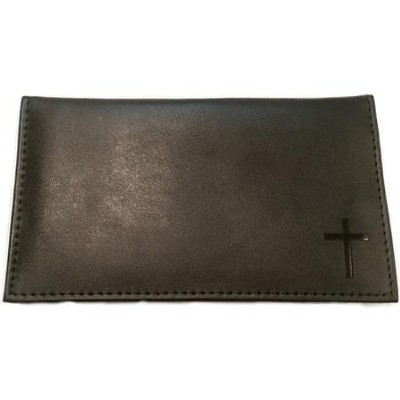 Men's Genuine Leather Checkbook Cover and Pen Set  -