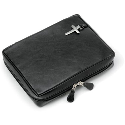 Genuine Leather Bible Cover, Black, XX-Large   -