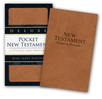 KJV Deluxe Edition, New Testament, Psalms & Proverbs, Imitation Leather, Brown  -