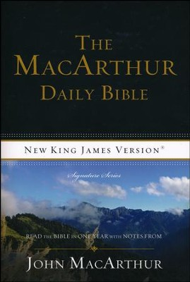 NKJV MacArthur Daily Bible Softcover Repackage  -