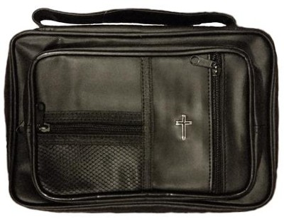 Lux Leather Study Kit Bible Cover Black, Large  -