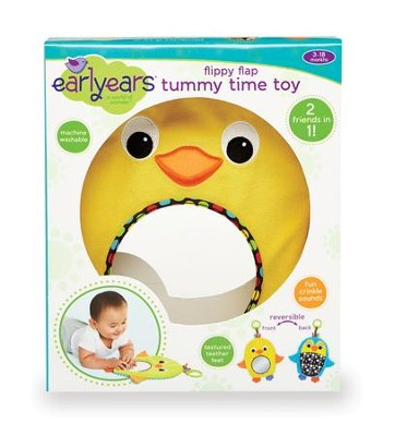 Flippy Flap Tummy Time Toy, Duck and Penguin  -