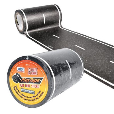 Asphalt Black Road Tape, 30ft x 4in  -