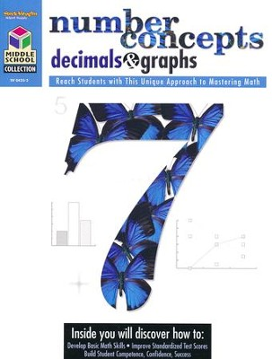 Middle School Collection: Math Number Concepts, Decimals & Graphs  -