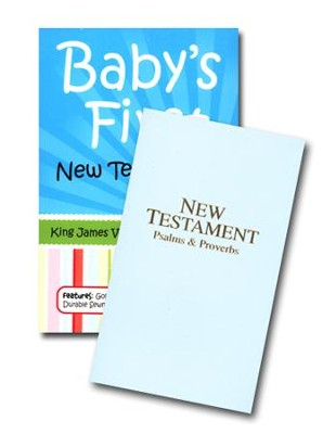 KJV Deluxe Pocket New Testament & Psalms Pastel Blue, Paper   -