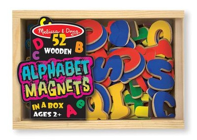 Magnetic Wooden Alphabet  -