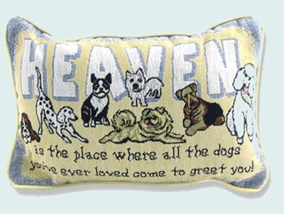 Dogs In Heaven, Tapestry Pillow   -