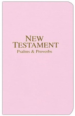 KJV New Testament with Psalms and Proverbs, Economy,  Imitation Leather, Pastel Pink  -