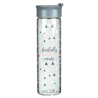 Fearfully & Wonderfully Made Glass Water Bottle  -