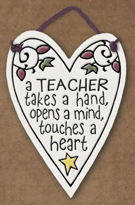 Teacher Takes a Hand, Opens Minds Plaque  -