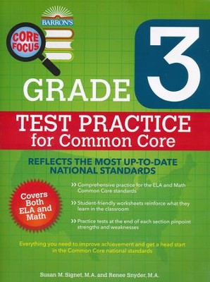 Grade 3, Test Practice for Common Core  -     By: Susan M. Signet, Renee Snyder