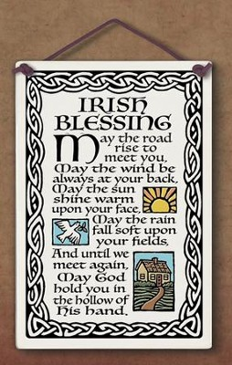 Irish Blessing Plaque  -