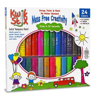 Kwik Stix Tempera Paint, Assorted Colors, Pack of 24  -