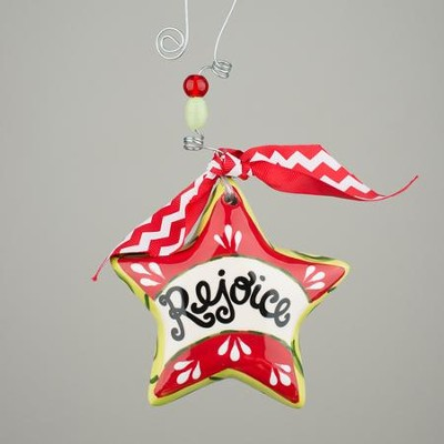 Rejoice Star Puff Ornament  -
