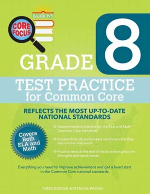 Grade 8, Test Practice for Common Core  -