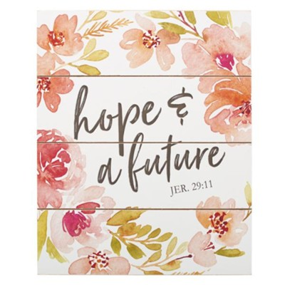 Hope & A Future Wall Plaque  -