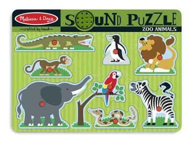 Zoo Animals Sound Puzzle, 8 pieces  -